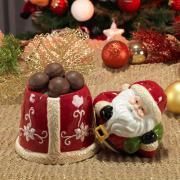 Bomboniere Natal de Cerâmica com 20,5cm de altura - Santa Claus - Dui Design