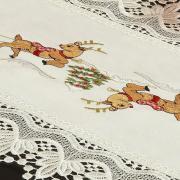 Trilho de Mesa Natal com Bordado Richelieu 40x85cm Avulso - Bondade Natural - Dui Design