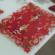 Jogo Americano Natal 4 Lugares (4 peças) com Bordado Richelieu 35x50cm - Bondade Vermelho - Dui Design