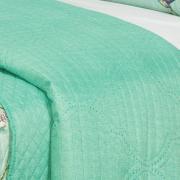Kit: 1 Cobre-leito Casal Bouti de Microfibra Ultrasonic Estampada + 2 Porta-travesseiros - Bonny Acqua - Dui Design