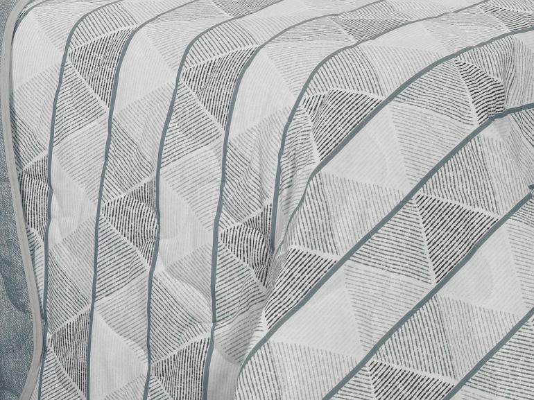 Kit: 1 Cobre-leito Queen + 2 Portas-travesseiro 150 fios - Boris - Teka