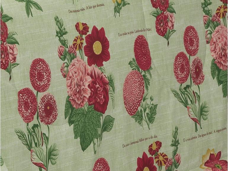 Edredom Solteiro Percal 200 fios - Botanic Celadon - Dui Design