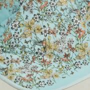 Enxoval Casal com Cobre-leito 7 peças Percal 180 fios - Brenda Azul - Dui Design