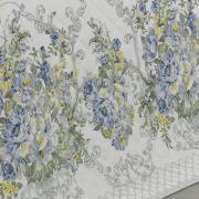 Enxoval Solteiro com Cobre-leito 5 peças 150 fios - Brigite Azul - Dui Design