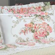 Jogo de Cama Queen 150 fios - Brigite Rosa - Dui Design