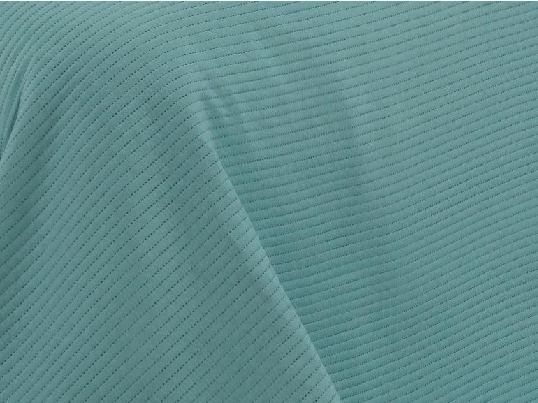 Kit: 1 Cobre-leito Solteiro Bouti de Microfibra Ultrasonic + 1 Porta-travesseiro - Brios Acqua e Turquesa - Dui Design