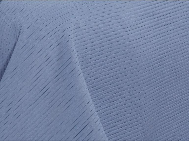 Kit: 1 Cobre-leito Casal Bouti de Microfibra Ultrasonic + 2 Porta-travesseiros - Brios Jeans e Indigo - Dui Design