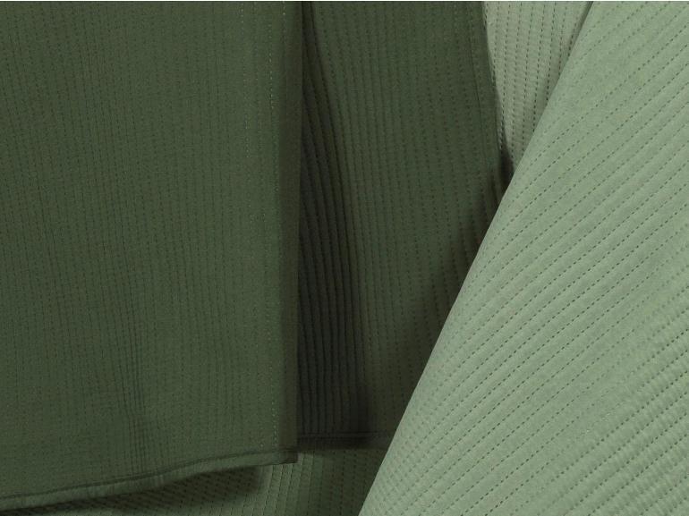 Kit: 1 Cobre-leito Queen Bouti de Microfibra Ultrasonic + 2 Porta-travesseiros - Brios Verde e Oliva - Dui Design