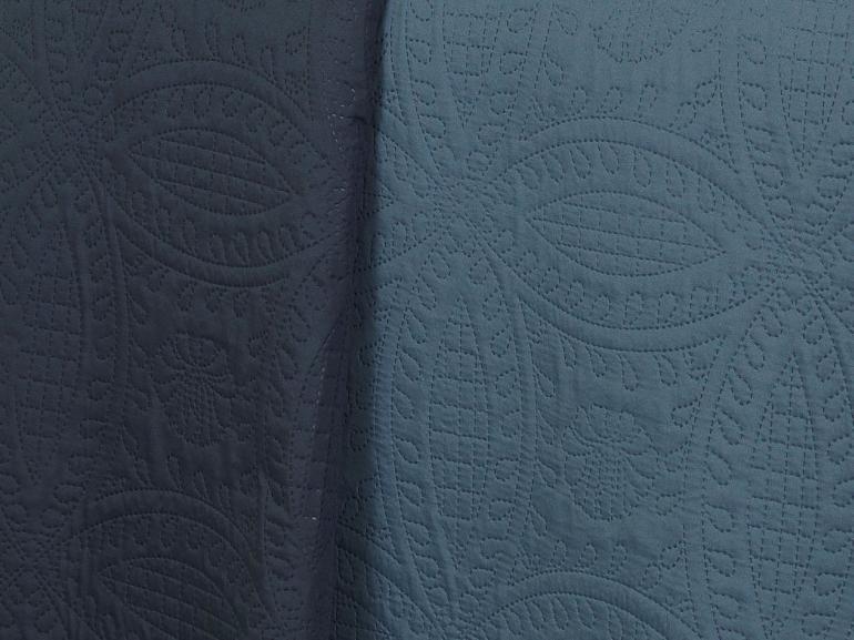 Kit: 1 Cobre-leito King Bouti de Microfibra Ultrasonic + 2 Porta-travesseiros - Bristol Indigo - Dui Design