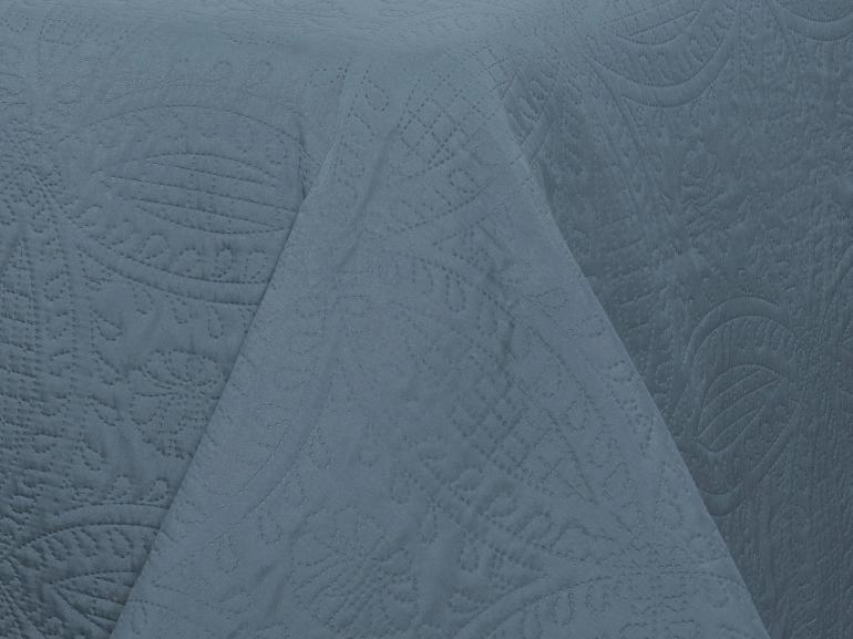 Kit: 1 Cobre-leito Casal Bouti de Microfibra Ultrasonic + 2 Porta-travesseiros - Bristol Indigo - Dui Design