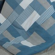 Jogo de Cama Queen Percal 180 fios - Brix Azul - Dui Design