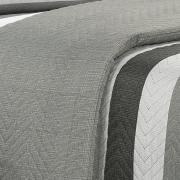 Kit: 1 Cobre-leito Queen Bouti de Microfibra Ultrasonic Estampada + 2 Porta-travesseiros - Bruce Cinza - Dui Design