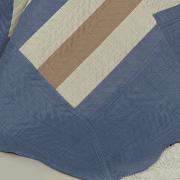 Kit: 1 Cobre-leito Casal Bouti de Microfibra Ultrasonic Estampada + 2 Porta-travesseiros - Bruce Indigo - Dui Design