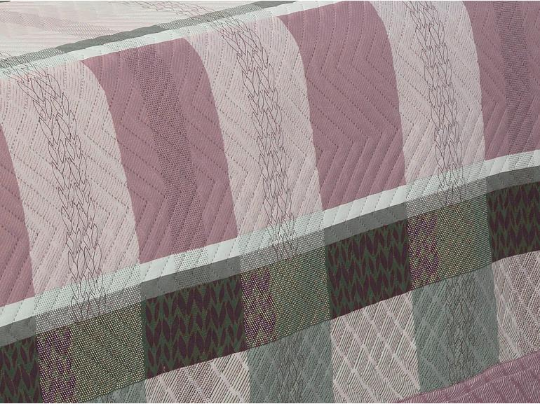 Kit: 1 Cobre-leito Casal Bouti de Microfibra Ultrasonic Estampada + 2 Porta-travesseiros - Bryan Albergine - Dui Design