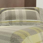 Kit: 1 Cobre-leito Casal Bouti de Microfibra Ultrasonic Estampada + 2 Porta-travesseiros - Bryan Castanho - Dui Design