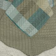 Kit: 1 Cobre-leito Casal Bouti de Microfibra Ultrasonic Estampada + 2 Porta-travesseiros - Bryan Taupe - Dui Design