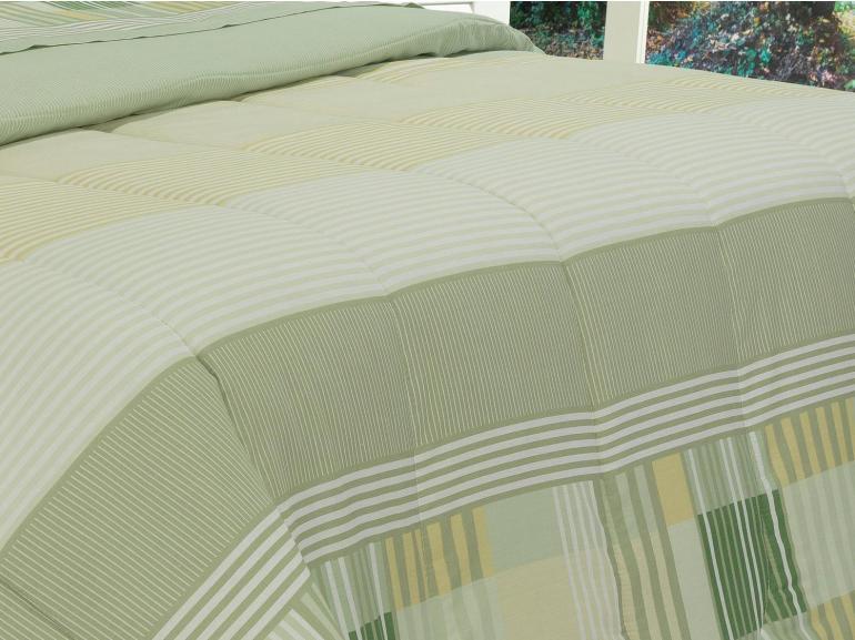 Jogo de Cama Casal Percal 180 fios - Capri Verde - Dui Design
