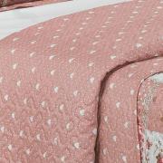 Kit: 1 Cobre-leito King Bouti de Microfibra Ultrasonic Estampada + 2 Porta-travesseiros - Carmen Rosa Velho - Dui Design