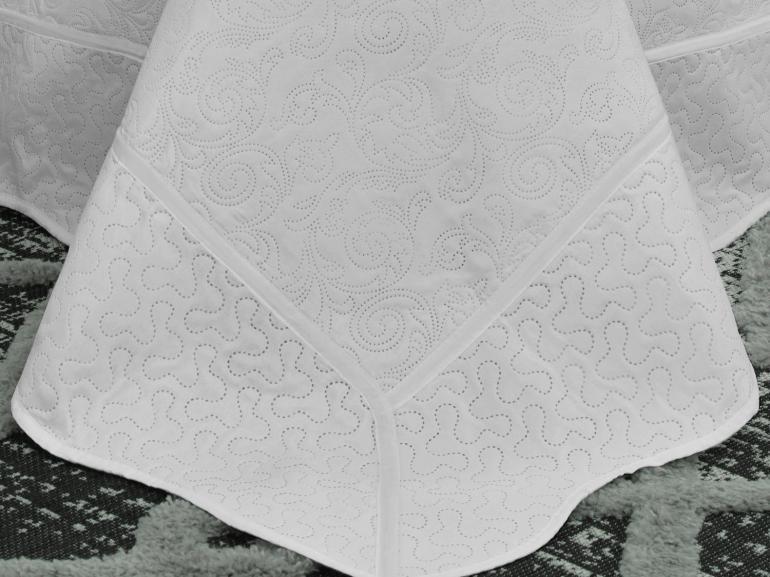 Kit: 1 Cobre-leito Casal Bouti de Microfibra Ultrasonic + 2 Porta-travesseiros - Carmini Branco - Dui Design