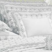 Jogo de Cama Solteiro Percal 200 fios com Bordado Inglês - Castelo Azul - Dui Design