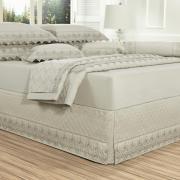 Saia para cama Box Matelassada com Bordado Inglês Casal - Castelo Bege - Dui Design