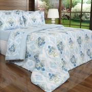 Jogo de Cama King 150 fios - Catarina Azul - Dui Design