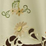 Toalha de Mesa com Bordado Richelieu Redonda 180cm - Catarina Pérola - Dui Design