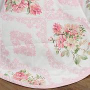 Kit: 1 Cobre-leito Casal + 2 Porta-travesseiros 150 fios - Catarina Rosa - Dui Design