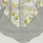 Kit: 1 Cobre-leito Casal Bouti de Microfibra Ultrasonic Estampada + 2 Porta-travesseiros - Cecilia Amarelo - Dui Design