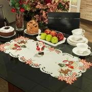 Trilho de Mesa Natal com Bordado Richelieu 40x85cm Avulso - Celebrate Natural - Dui Design