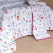 Kit: 1 Cobre-leito Casal + 2 Porta-travesseiros 160 fios - Celine - Kacyumara