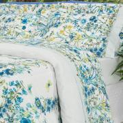 Jogo de Cama Queen Percal 200 fios - Celine Azul - Dui Design