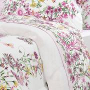 Edredom Solteiro Percal 200 fios - Celine Rosa - Dui Design