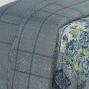 Kit: 1 Cobre-leito Solteiro Bouti de Microfibra Ultrasonic Estampada + 1 Porta-travesseiro - Chalise Azul - Dui Design