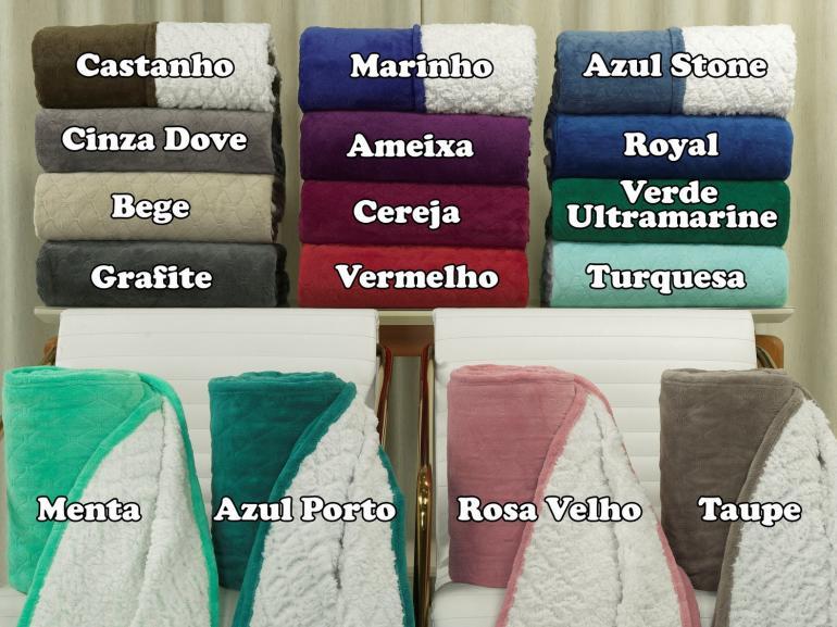 Cobertor Avulso Solteiro com efeito Pele de Carneiro - Chamber Sherpa - Dui Design