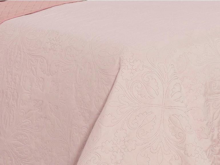 Kit: 1 Cobre-leito Queen Bouti de Microfibra Ultrasonic + 2 Porta-travesseiros - Chambery Rosa Candy - Dui Design