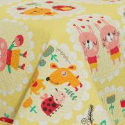 Kit: 1 Cobre-leito Solteiro Kids Bouti de Microfibra PatchWork Ultrasonic + 1 Porta-travesseiro - Chiquitas - Dui Design