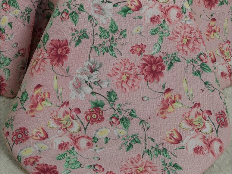 Jogo de Cama King 150 fios - Clarisse Rosa - Dui Design