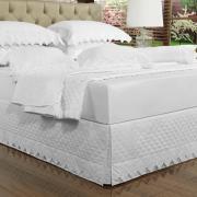 Saia para cama Box Matelassada com Bordado Inglês Queen - Classic Branco - Dui Design