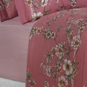 Jogo de Cama Queen Percal 180 fios - Cleide Rosa Velho - Dui Design