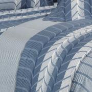 Enxoval Solteiro com Edredom 4 peças Percal 180 fios - Cobalt Azul - Dui Design