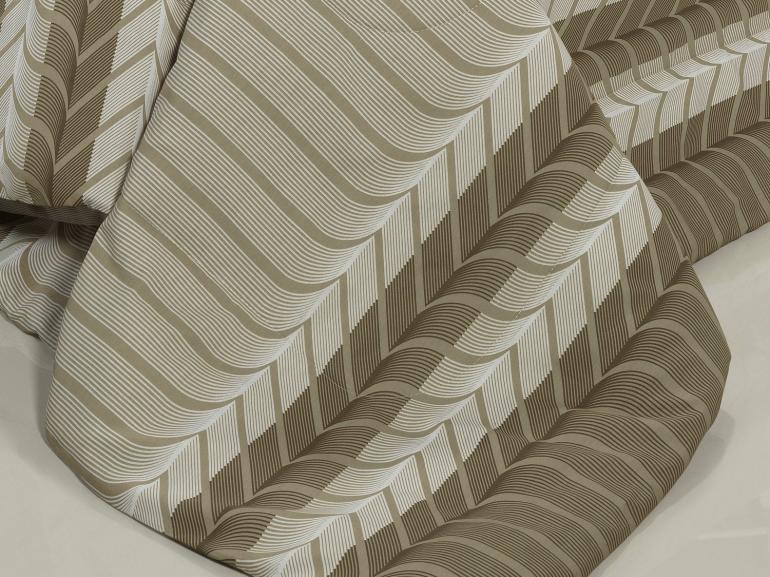 Edredom Solteiro Percal 180 fios - Cobalt Taupe - Dui Design