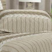 Enxoval Solteiro com Cobre-leito 5 peças Percal 180 fios - Cobalt Taupe - Dui Design