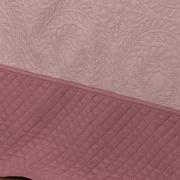 Kit: 1 Cobre-leito King Bouti de Microfibra Ultrasonic + 2 Porta-travesseiros - Colares Rosa Velho - Dui Design