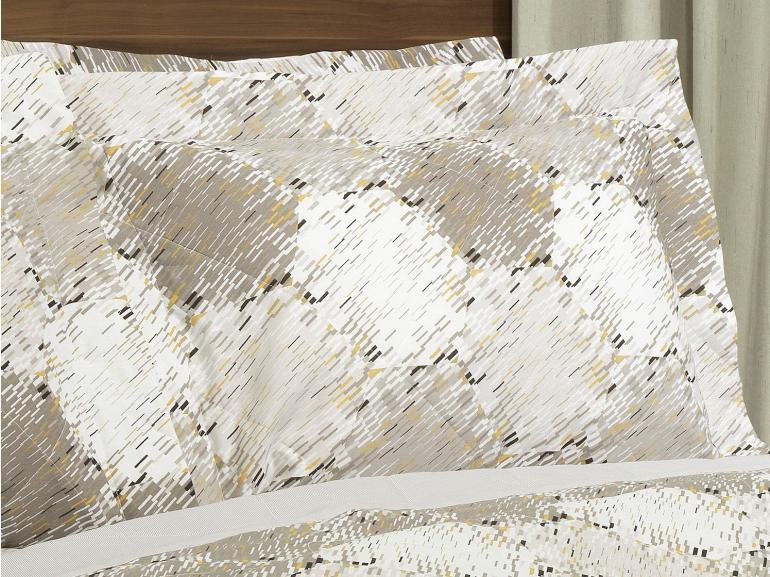 Kit: 1 Cobre-leito Casal + 2 Porta-travesseiros 150 fios - Columbia Stone - Dui Design