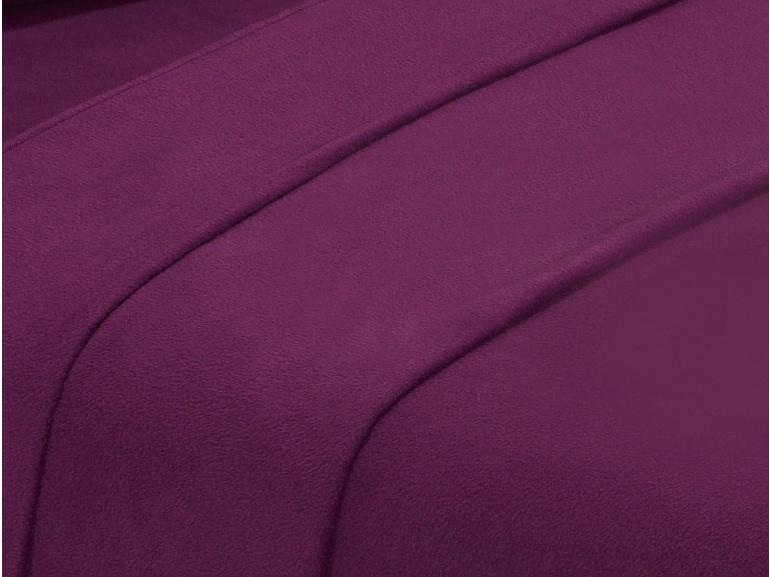 Jogo de Cama King Plush feito de Manta de Microfibra - Conforto Ameixa - Dui Design