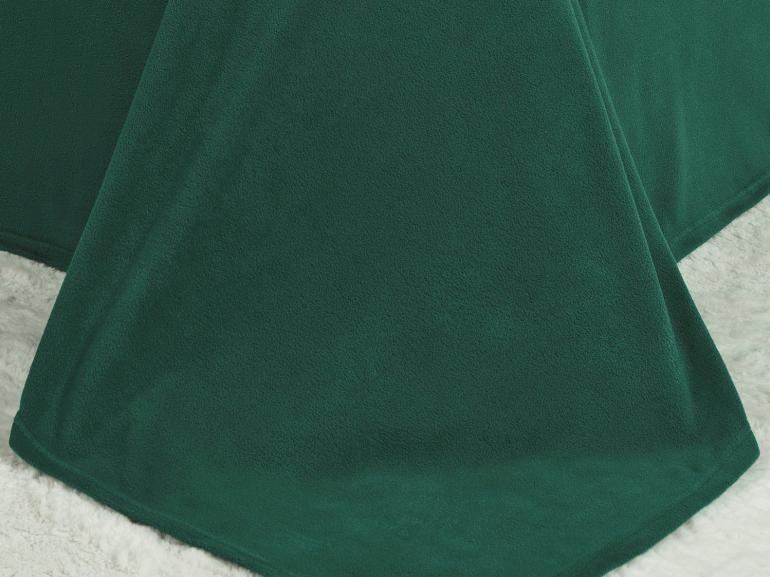 Jogo de Cama Casal Plush feito de Manta de Microfibra - Conforto Azul Petróleo - Dui Design