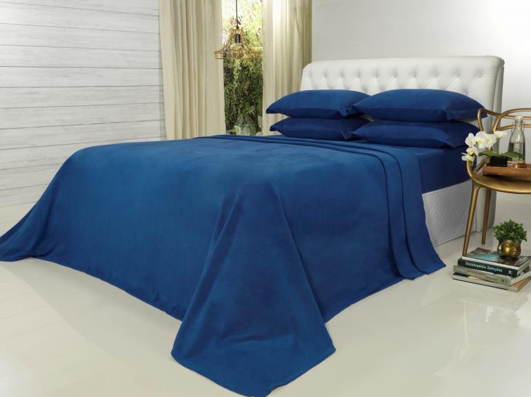 Jogo de Cama Solteiro Plush feito de Manta de Microfibra - Conforto Royal - Dui Design