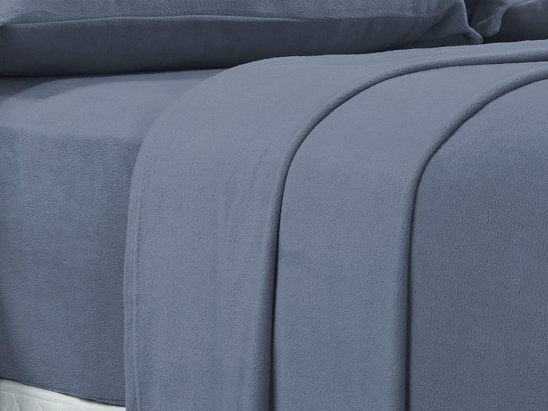 Jogo de Cama Queen Plush feito de Manta de Microfibra - Conforto Azul Stone - Dui Design