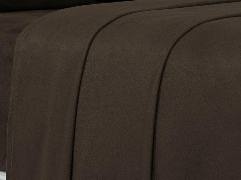 Jogo de Cama Queen Plush feito de Manta de Microfibra - Conforto Café - Dui Design